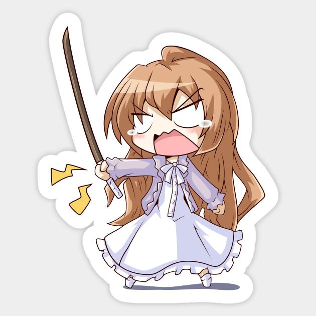 Angry Taiga - Toradora - Taiga - Sticker