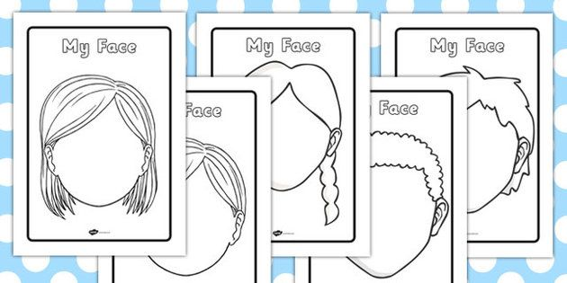 Blank Face Templates With Face Features Face Template Templates Face