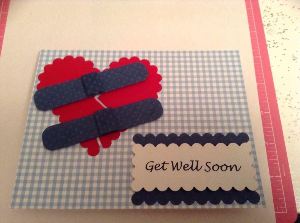Get well card after heart surgery   craft ideas   Cards, Get well