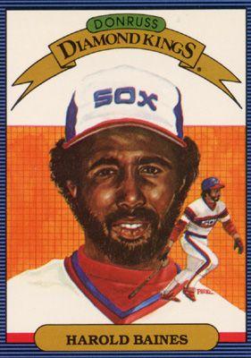 Harold Baines For Donruss Diamond Kings Baseball Card Series In