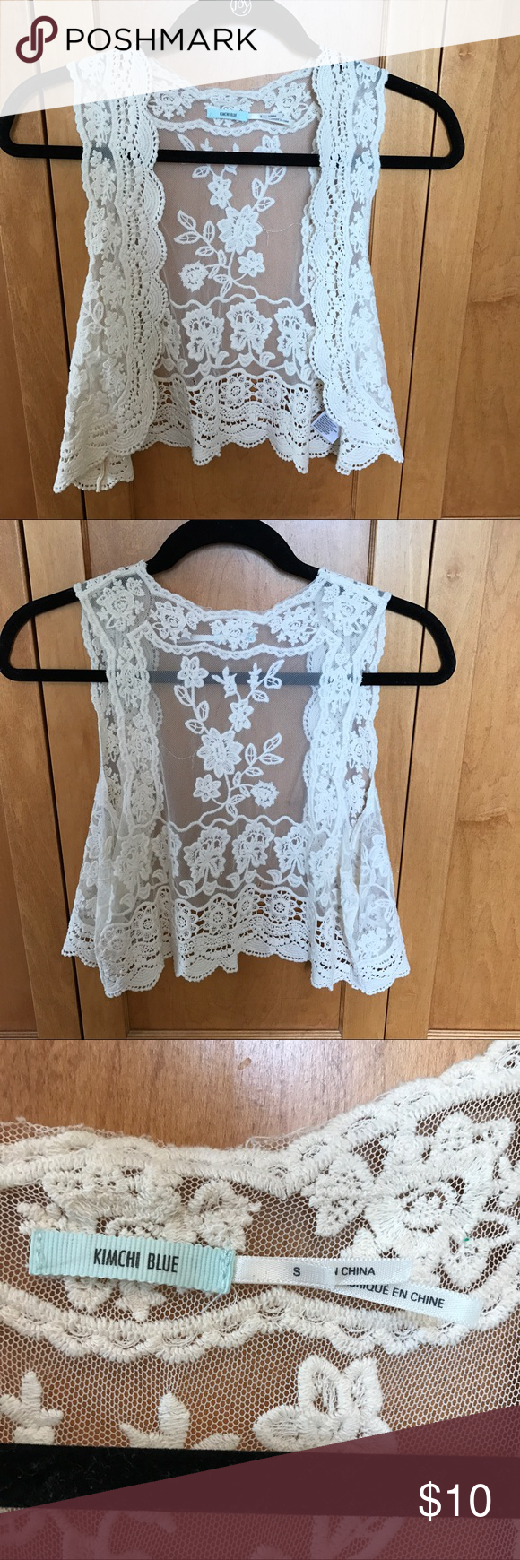NEW urban outfitters tank/ cardigan Never worn tank/ cardigan from urban outfitters. Beautiful lacing, this is more of a crop tank top but would be beautiful as a layering piece. Urban Outfitters Tops Tank Tops