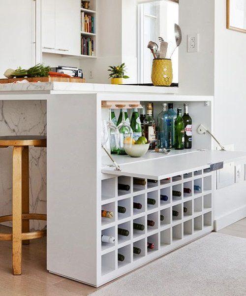 Hidden Kitchen Bar/Kitchen Counter. | For the Home | Pinterest ...