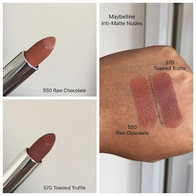 Maybelline Inti Matte Nudes Lipstick Swatches Make Up Maybelline