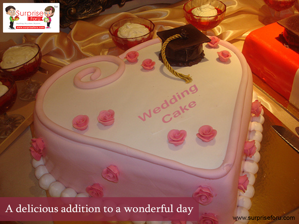 A delicious addition to a #wonderful day. ☏ Call for Order: +91 999817 9999, +91 99740 98980 #weddingcake #themecakes #onlinecake #freecakedelivery #Ahmedabad #SurpriseForU