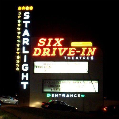 Starlight Six Drive In Atlanta Ga Only On This Board Because I Don T Have A More Appropriate One To Drive In Movie Theater Drive In Theater Drive In Movie