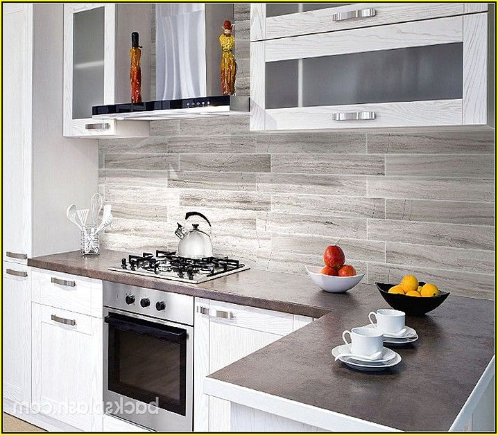 Grey Subway Tile Backsplash Kitchen Home Design Ideas Kitchen