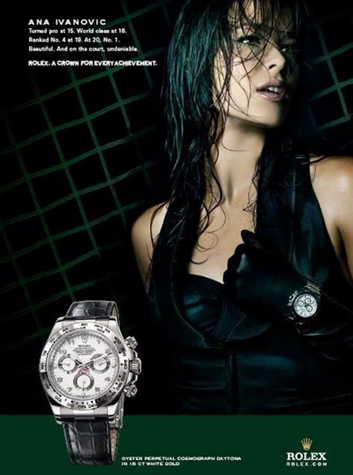 Ad 2019 RelojAnuncios Ana Body IvanovicEn Rolex Y rdeoQBCWx