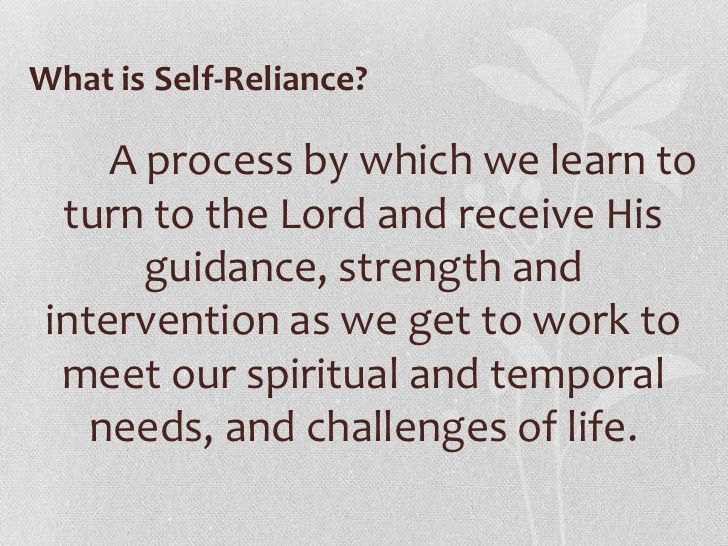 Image Result For Self Reliance Lds Church Lesson Ideas Self