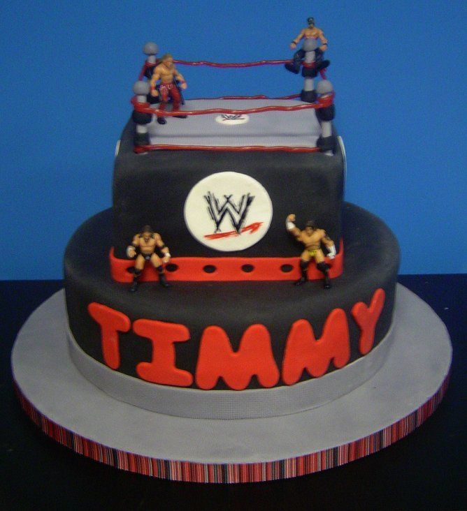 Wrestling Birthday Cake A Photo On Flickriver Picture 24105