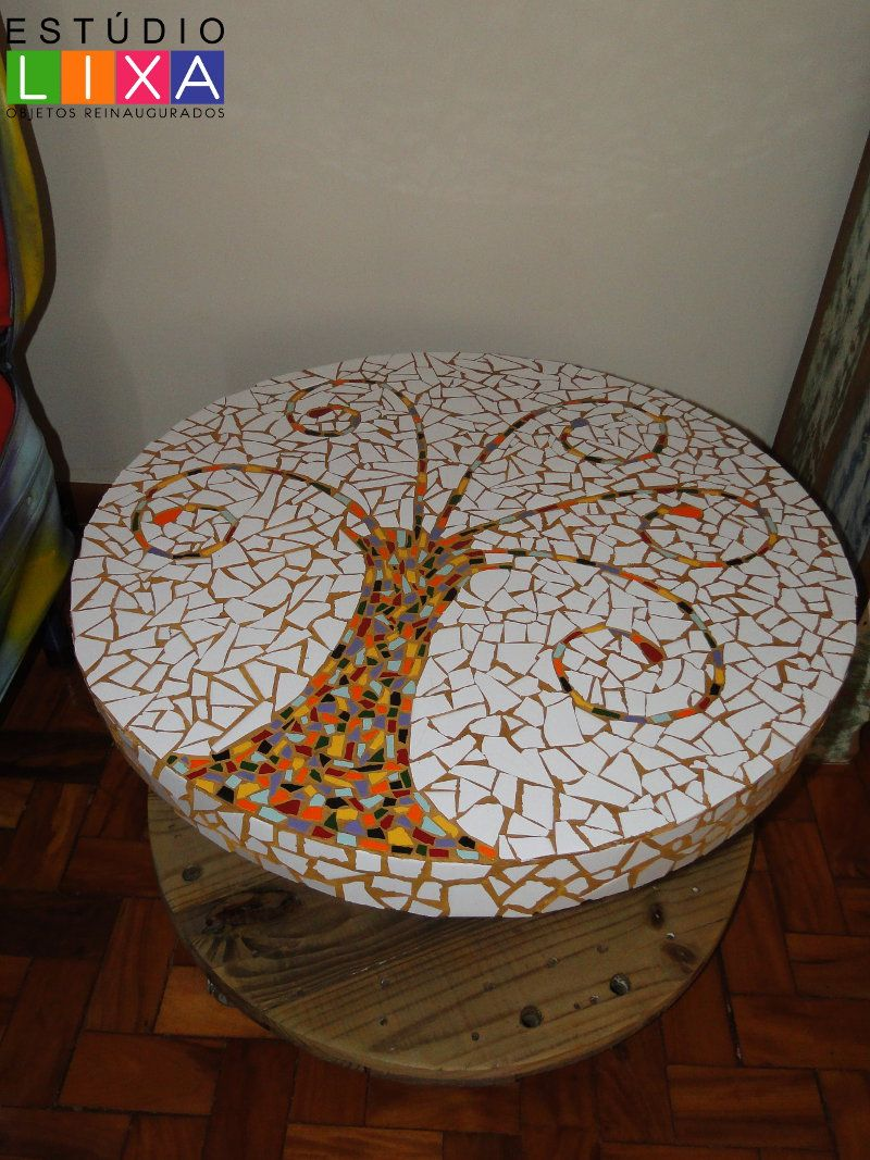 mesa mosaico   Ideias para a casa   Pinterest   Mesa mosaico ...