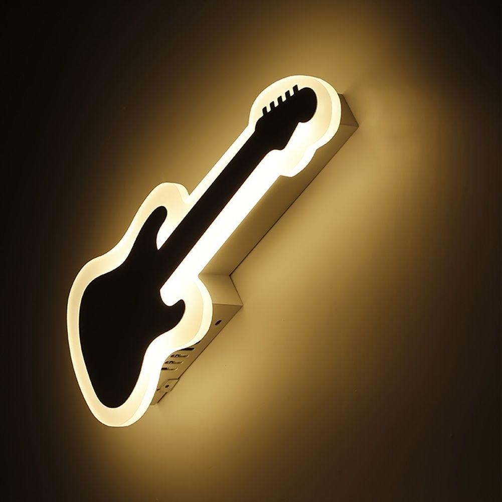 Acrylic Wall Lights Guitar Style Modern Brief Living Room Lights ...
