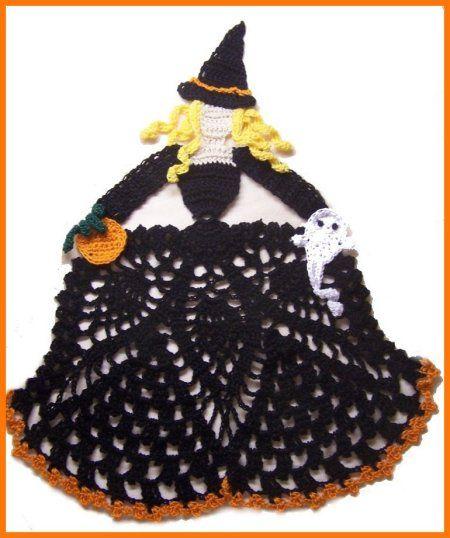 Easy Doily Crochet Patterns Free Halloween Fall Crochet Doily