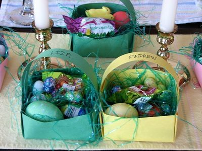 How to make a construction paper basket easter baskets easter how to make a construction paper basket negle