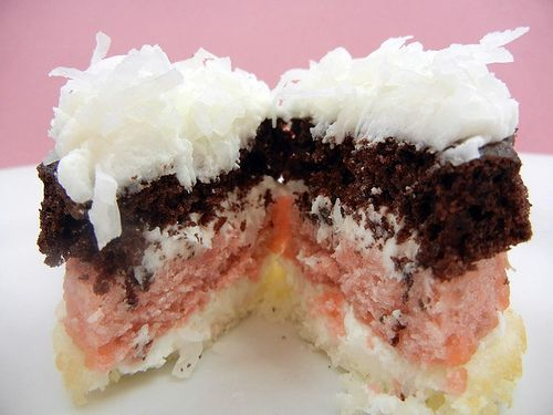 Neapolitan Cupcakes!!!  Could do these as parfaits too!