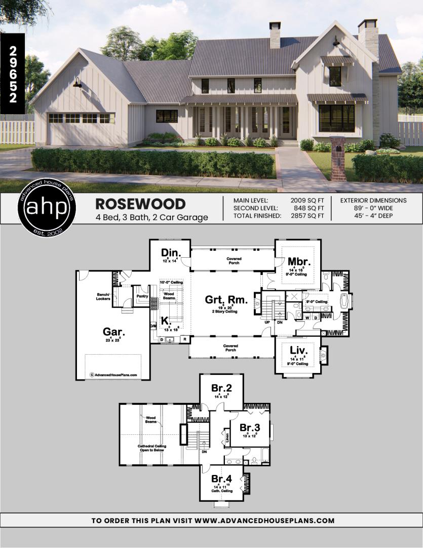 1 5 Story Modern Farmhouse Plan Rosewood Farmhouse Plans Modern Farmhouse Floorplan Farmhouse Floor Plans