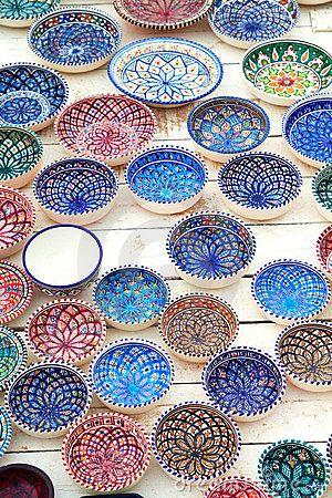 Pinterest & Tunisian dishware in 2019   Plates Decor Moroccan decor