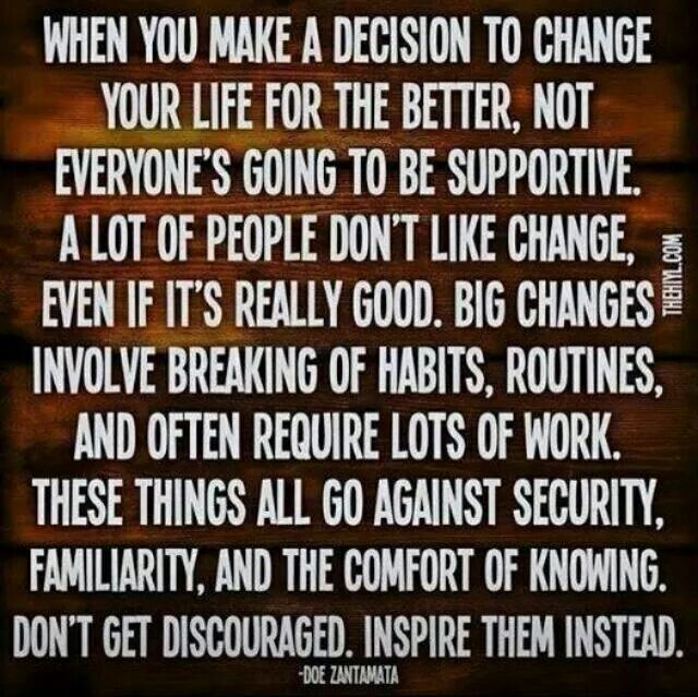 Decision to change