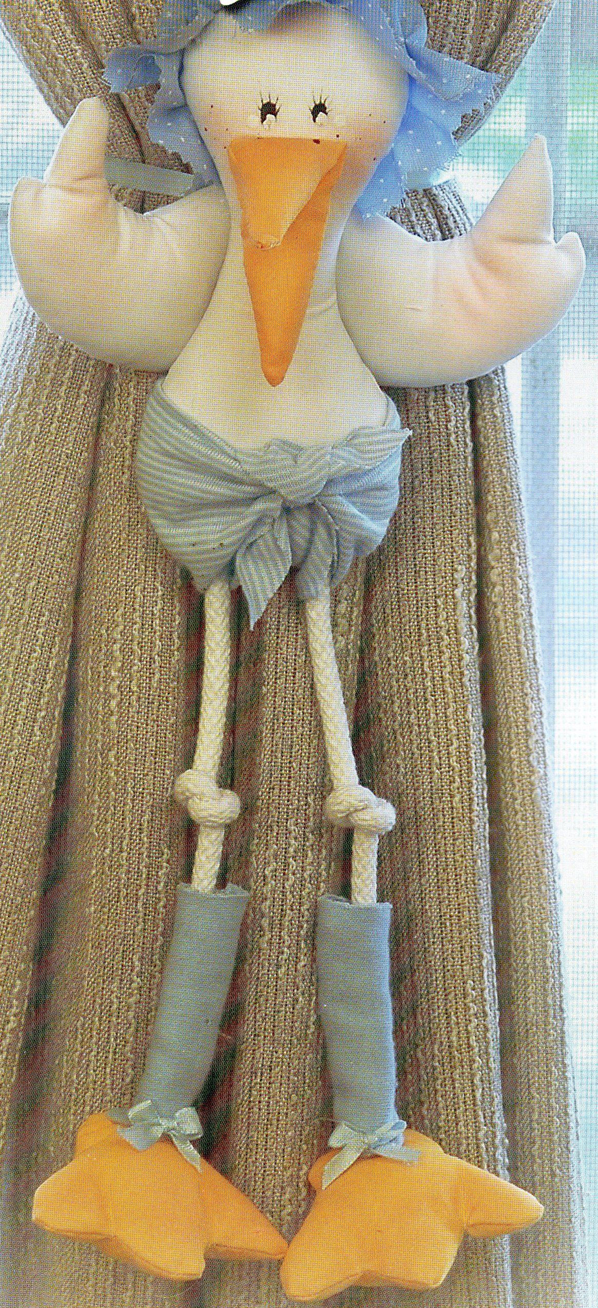 Cigue a beb sujeta cortina explicaciones y moldes en - Cortinas para bebes ...