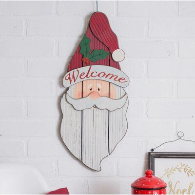 The Holiday Aisle Marielle Santa Days Til Hanging Sign Wood In Red White Size 1 L X 11 W X 20 In 2021 Hanging Signs Wooden Xmas Trees Christmas Yard Decorations