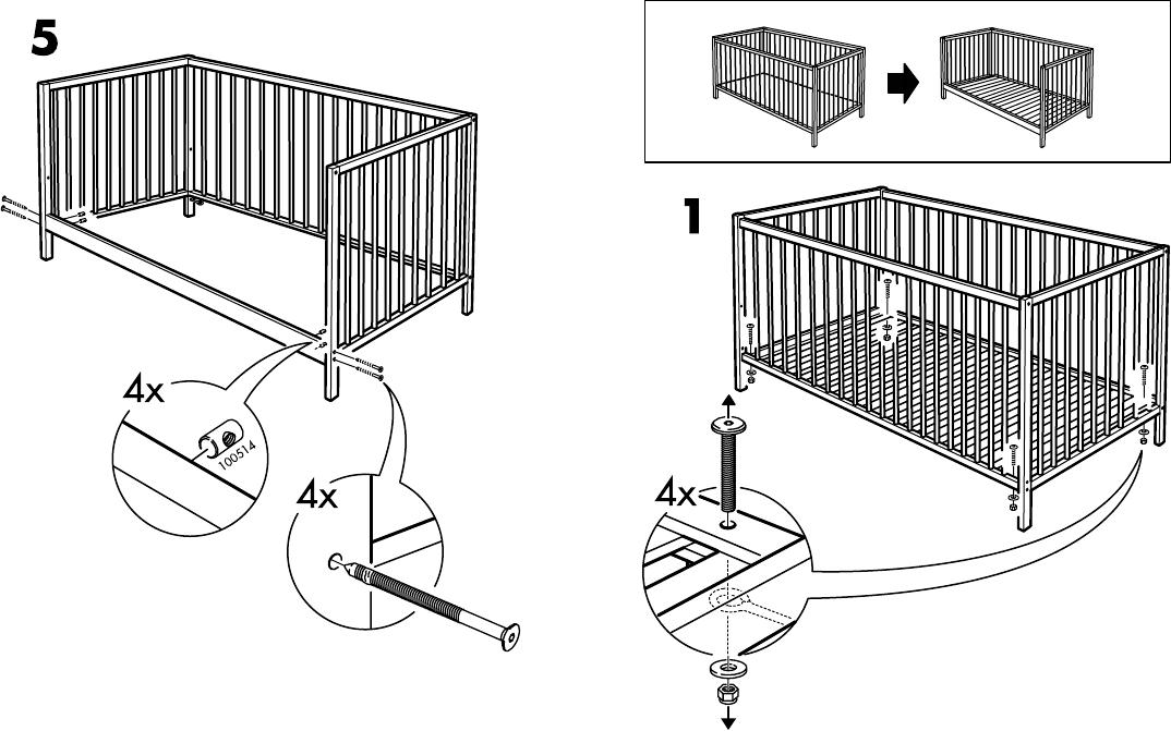 Sniglar Page 3 Of Ikea Crib Assembly Instructions