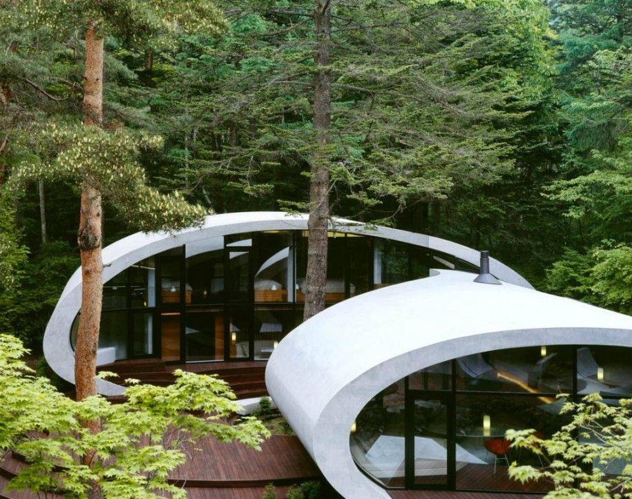 Best Eco House Designs With Simple Design : Shell Eco House Designs In  Japan Unique Shape