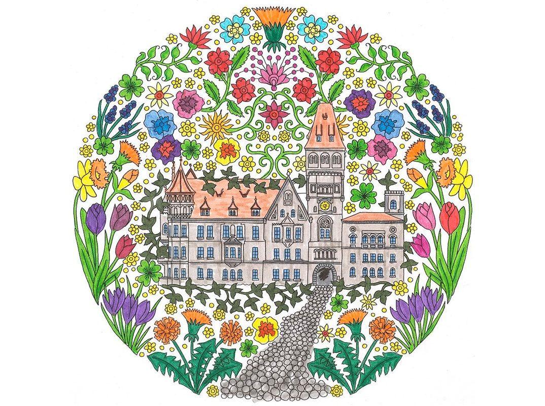 Gestalten Sie das Faber-Castell Schloss in bunten Farben je nach ...