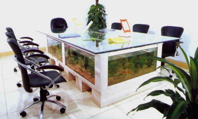 Conference table aquarium fish tank Fish tanks Pinterest