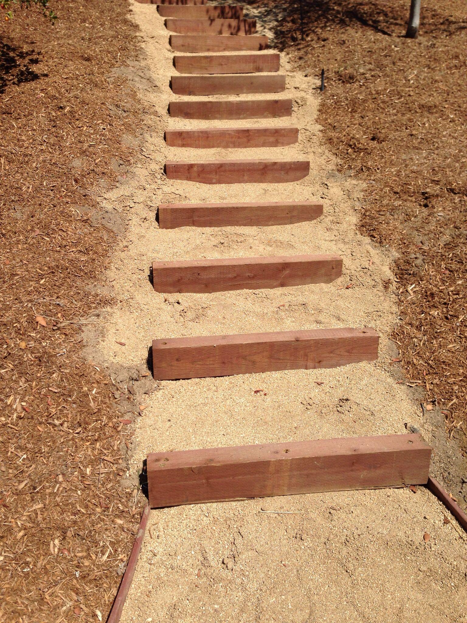 Decomposed Granite & Landscape timbers | Backyard patio | Pinterest ...