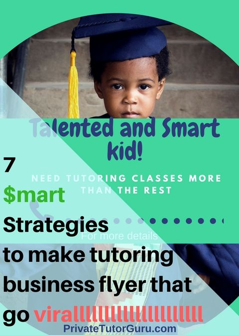 Designing your tutoring business flyer might be a hard task I\u0027ll