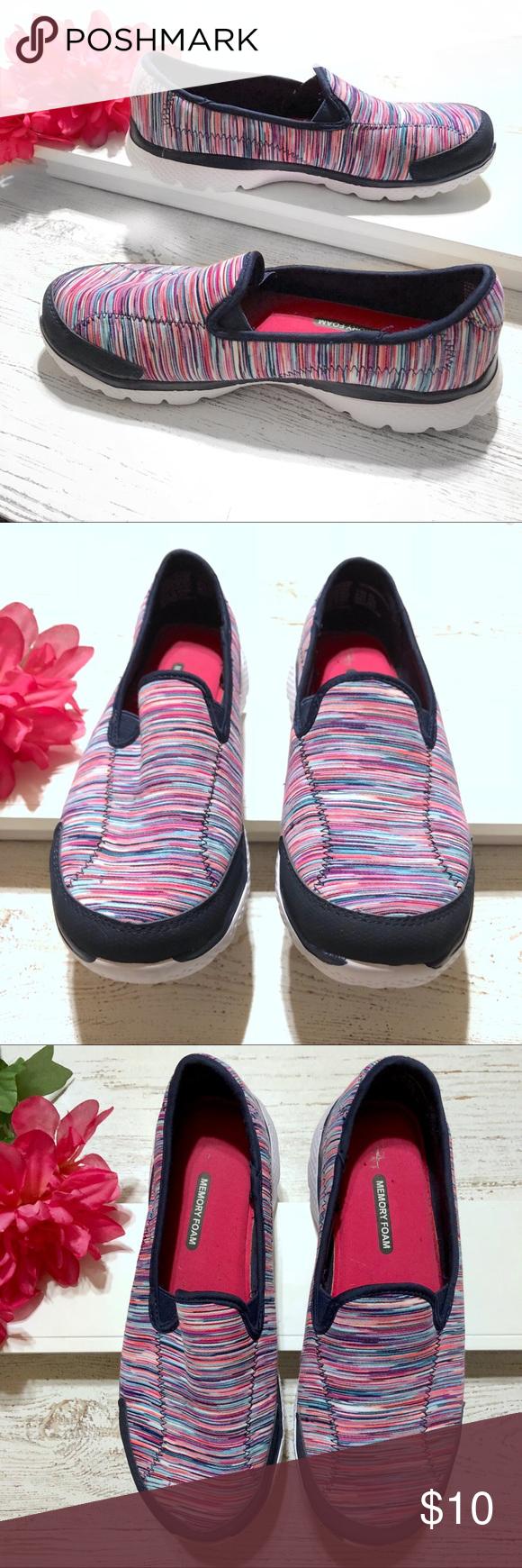 Danskin Now colorful athletic knit slip