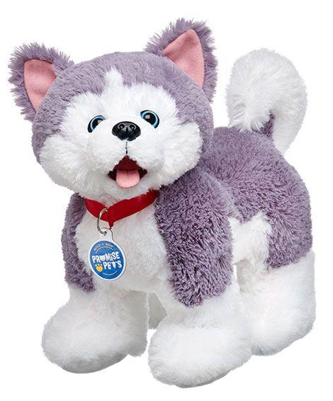 Build-A-Bear BLUE BLAST HUSKY Dog Teddy