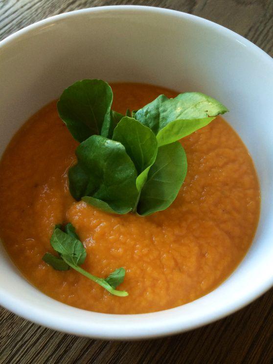 Sopa de batata dulce.  Sweet Potato soup