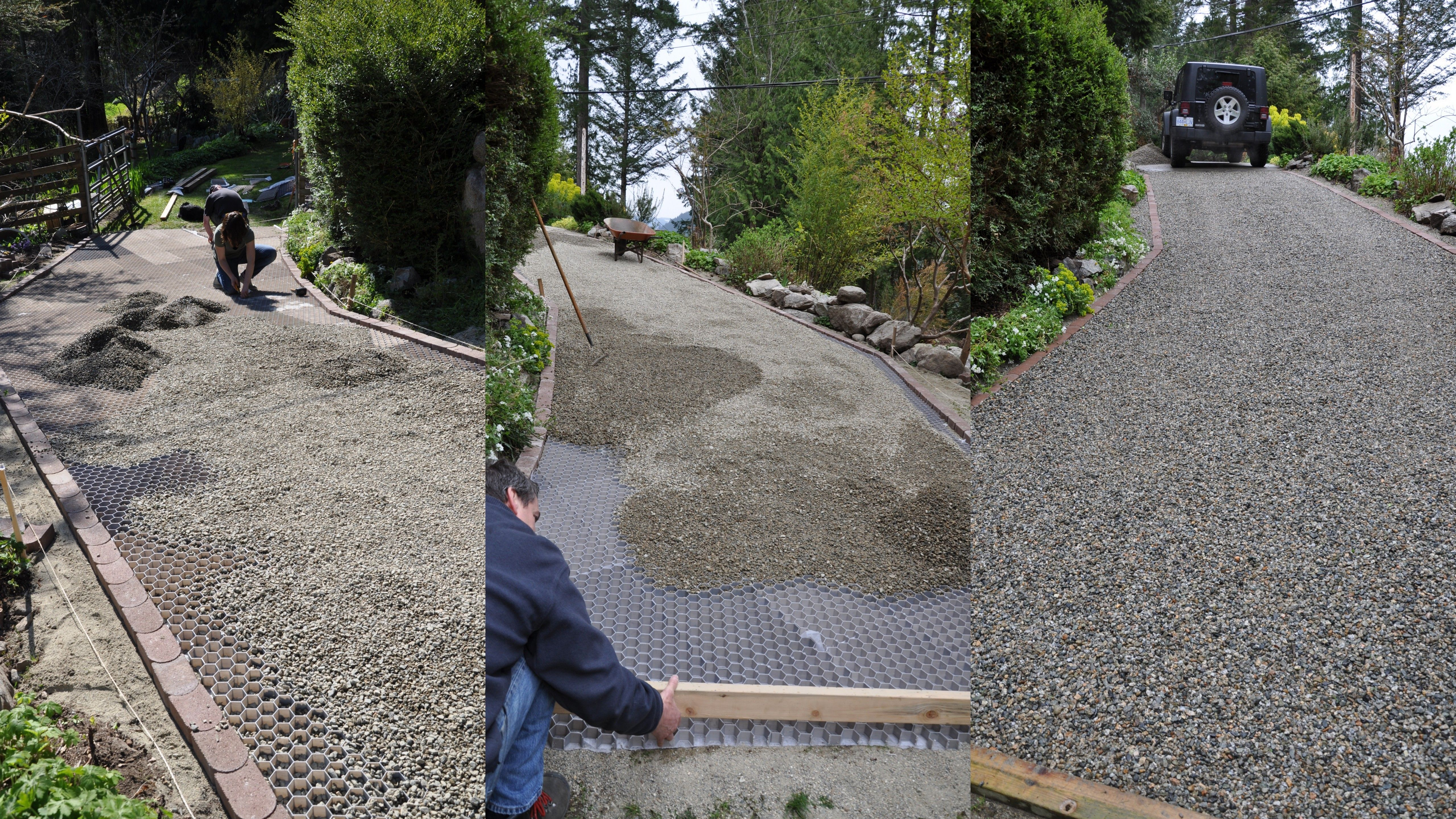 Steep Driveway Instillation Driveway Gravel Stabilize Stopweeds Weeds Porous Freedraining Di Driveway Landscaping Shed Landscaping Small Front Gardens