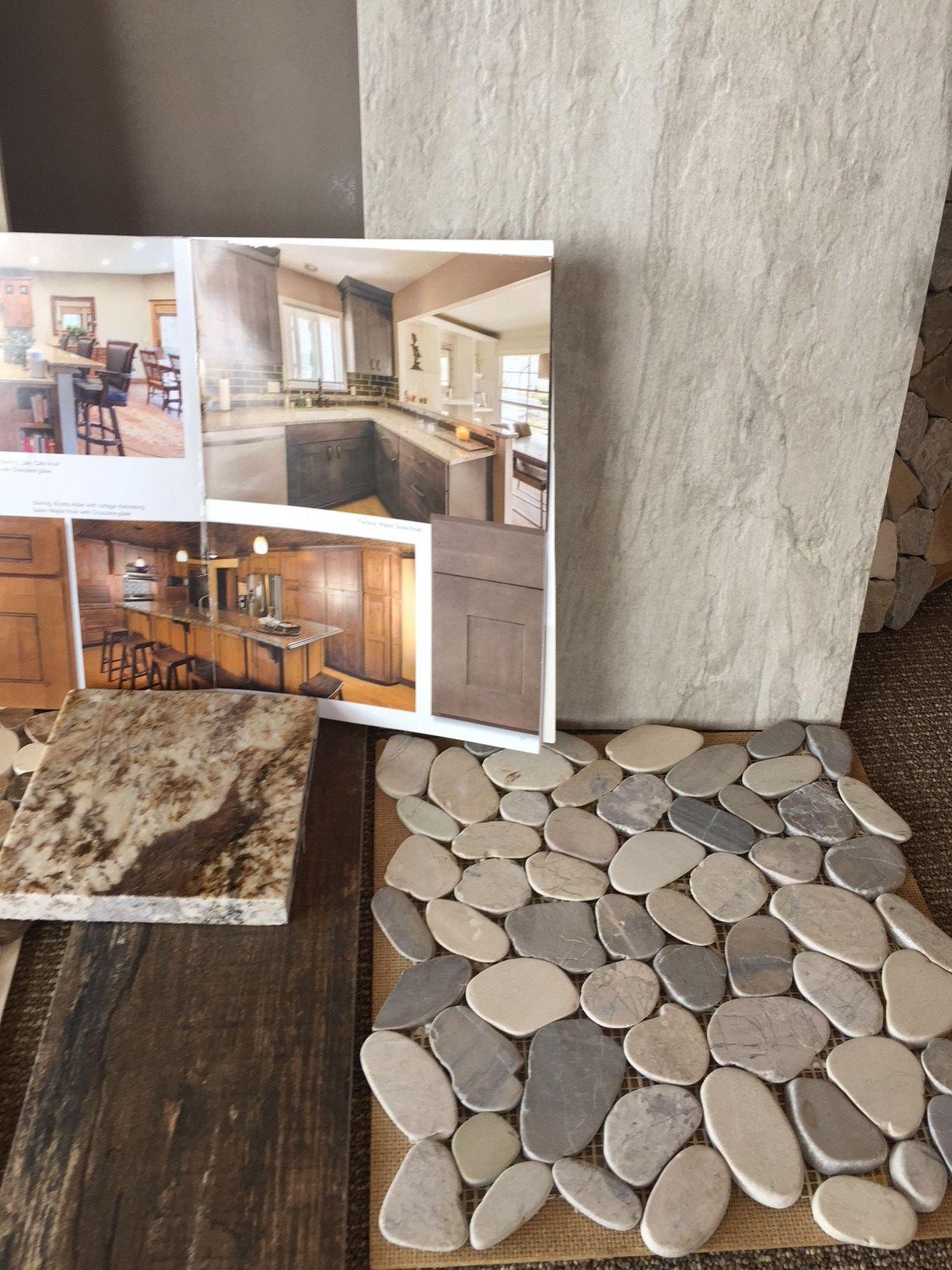 Main Floor Master Bath   Pebble Mosaic For Shower Floor And Recessed Shower  Shelf, Gray