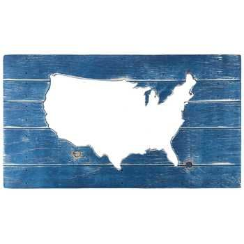 Navy Blue CutOut USA Wood Sign Hobby Lobby Adventure Living - Hobby lobby us map