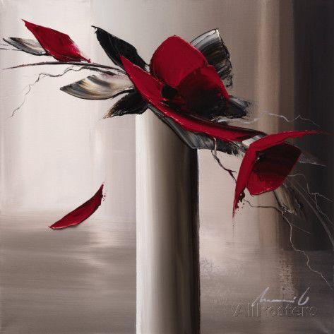 En Rouge et Gris I Kunstdruck