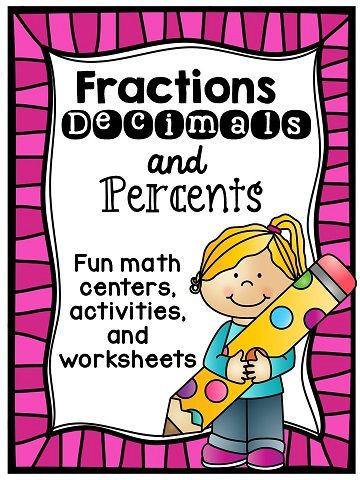 Fractions Decimals Percents Pinterest Percents, Worksheets and