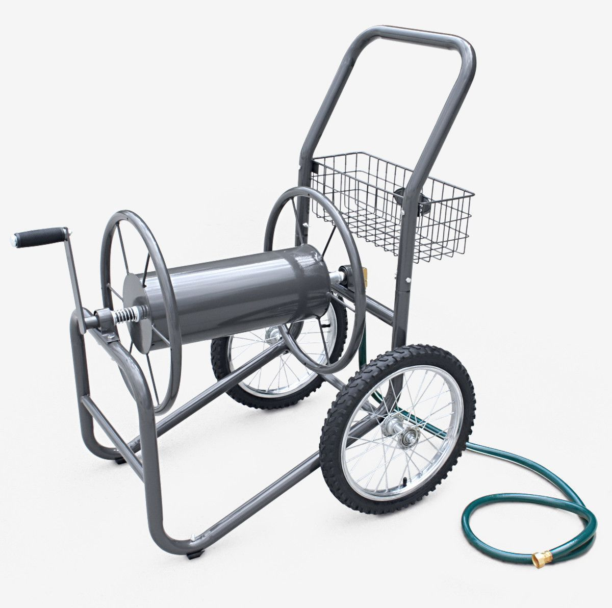 Industrial 2 Wheel Steel Hose Reel Cart | Hose reel, Industrial and ...