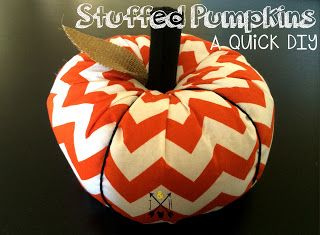 The Adventures of Jolly and Happy: DIY Stuffed Pumpkins
