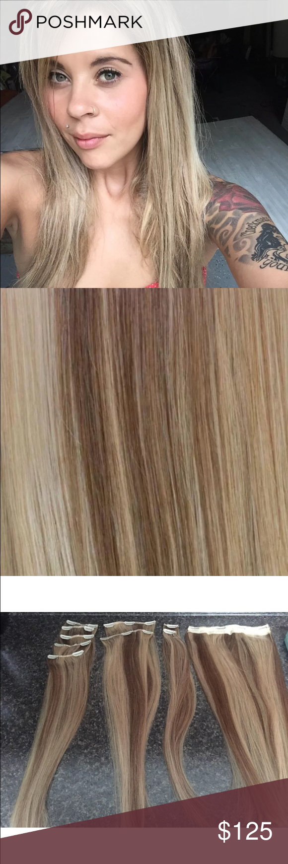 Blonde Clip In Hair Extensions Milkblush Dirty Looks Brand Girl