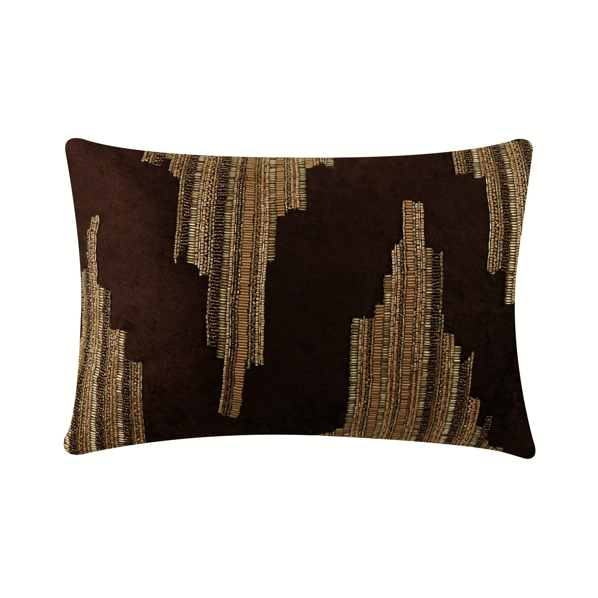 Decorative Oblong Lumbar Rectangle Throw Pillow Cover Couch Etsy In 2021 Lumbar Pillow Cover Brown Throw Pillows Decorative Throw Pillow Covers Brown and gold throw pillows