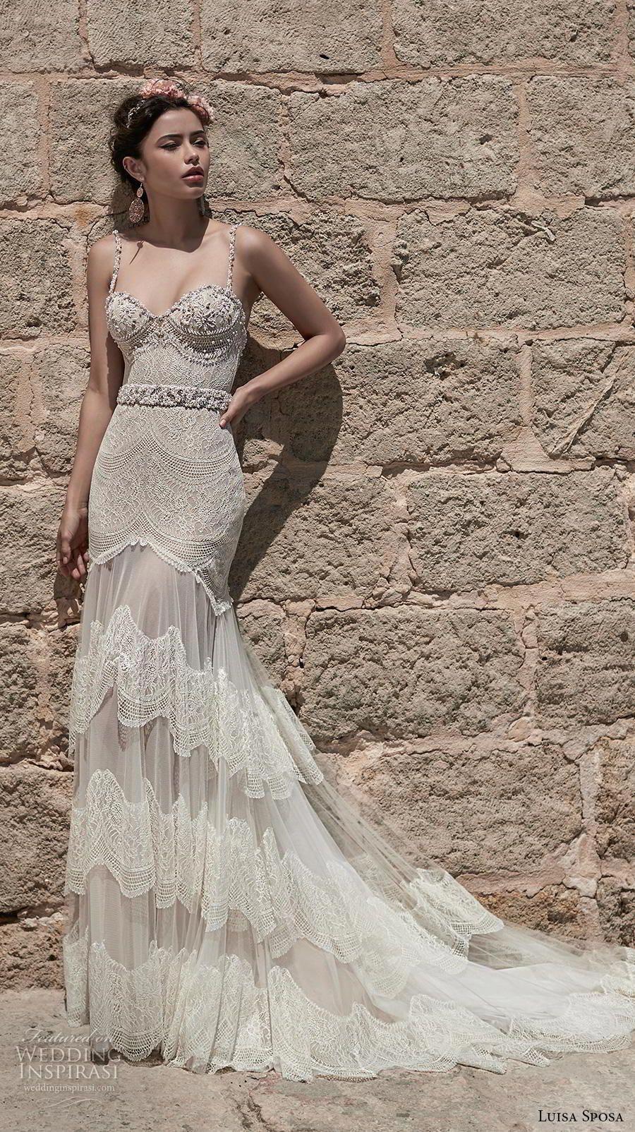 luisa sposa 2020 bridal sleeveless spaghetti strap