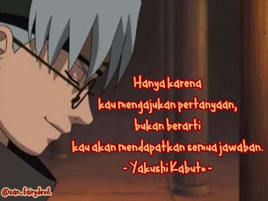 Yakushi Kabuto Naruto Anime Kutipan Terbaik Kutipan Hidup Hidup