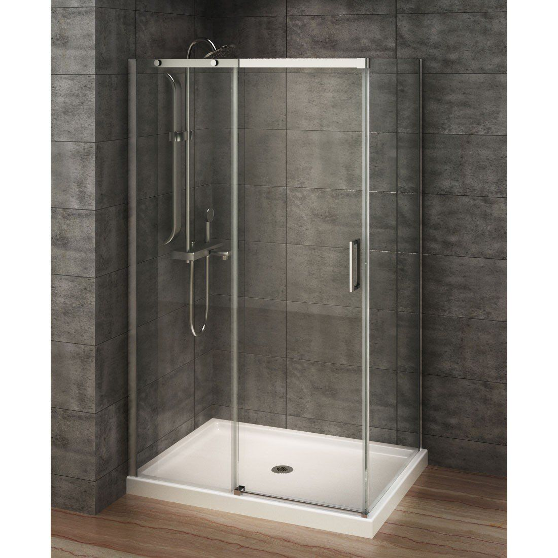 A&E Bath and Shower Berlin 48 x 32 Rectangular Corner