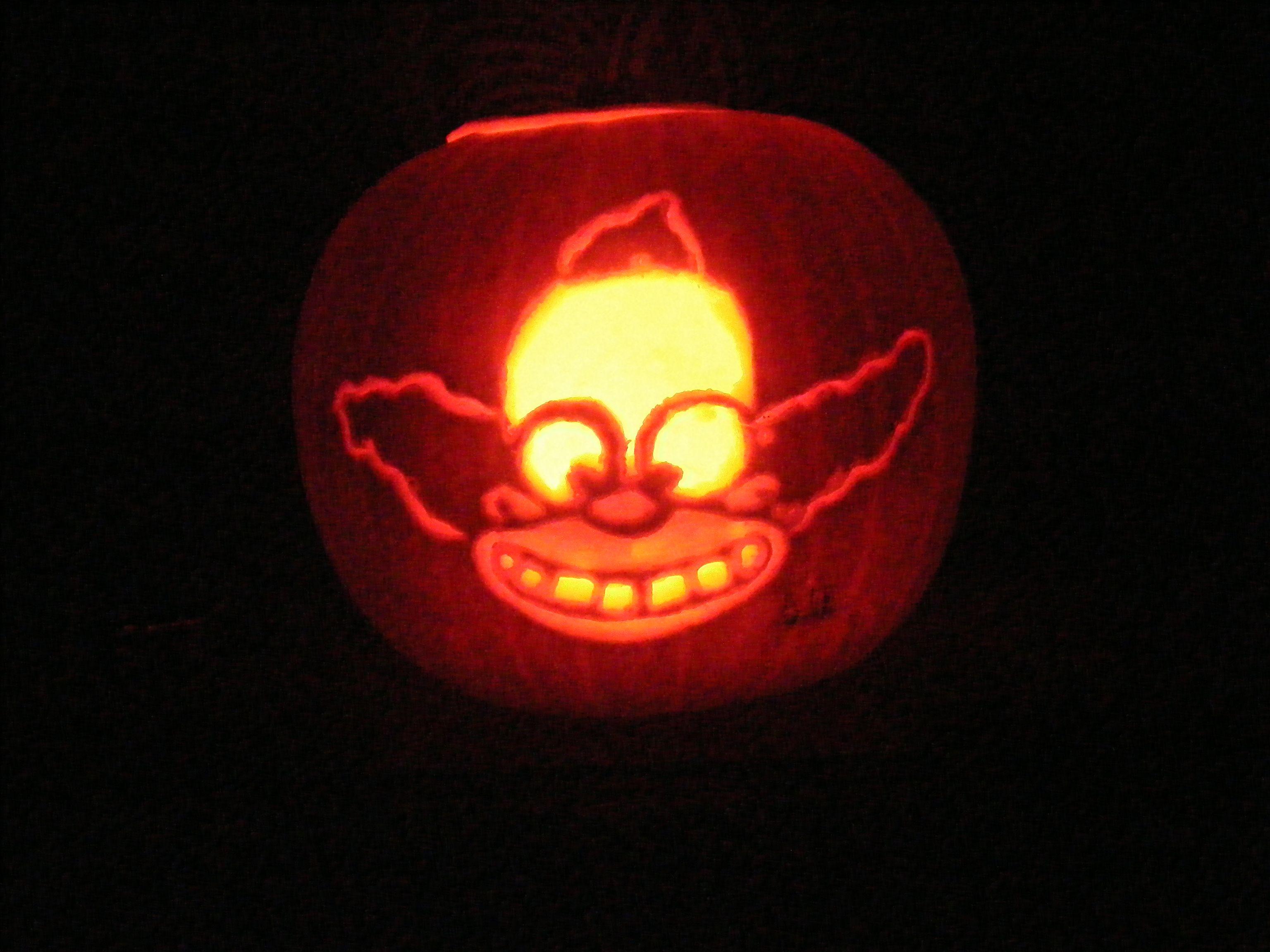 Krusty The Clown Pumpkin Krusty The Clown Pumpkin Carving Pumpkin
