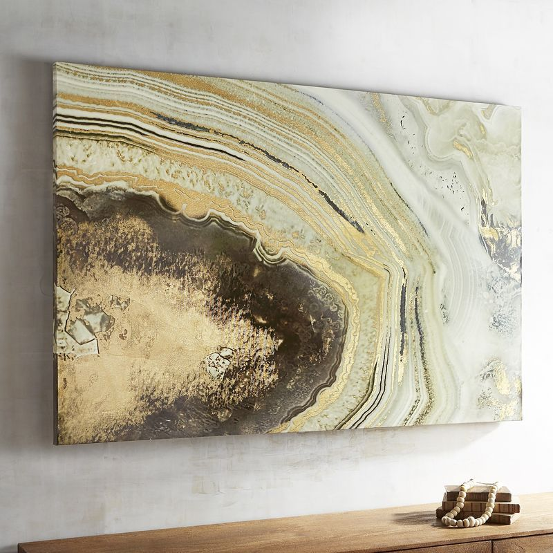 Agate Brown Abstract Art | Artwork and Acrylics