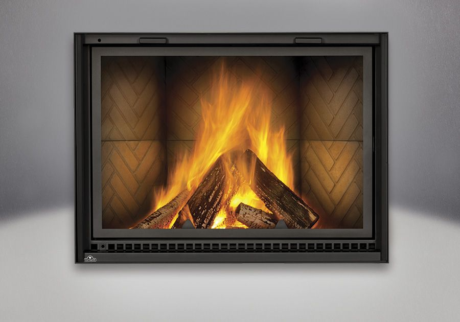 Herringbone Brick Panels Lake House Pinterest Wood fireplace