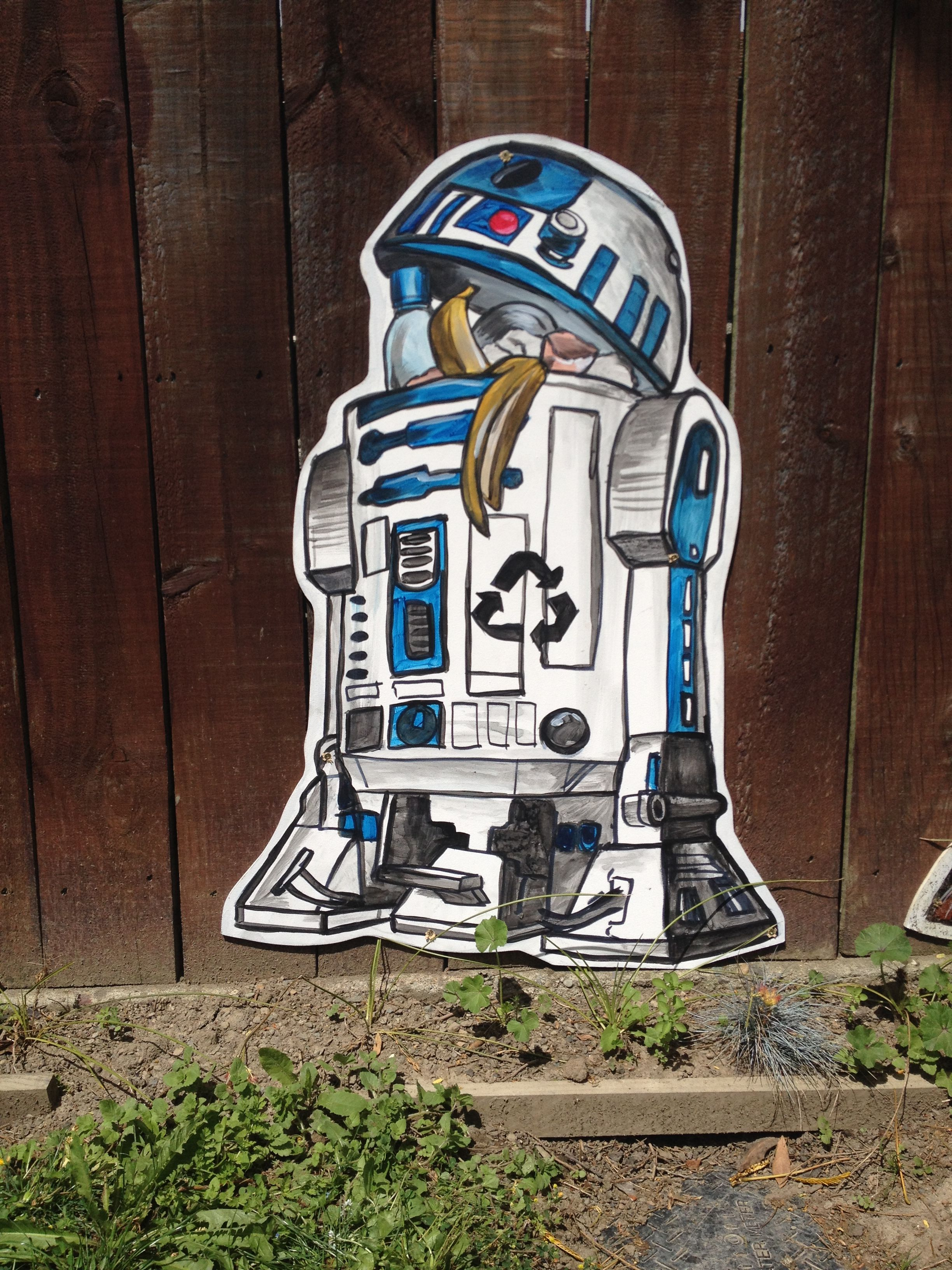 R2 Recycler Star Wars Graffiti Art