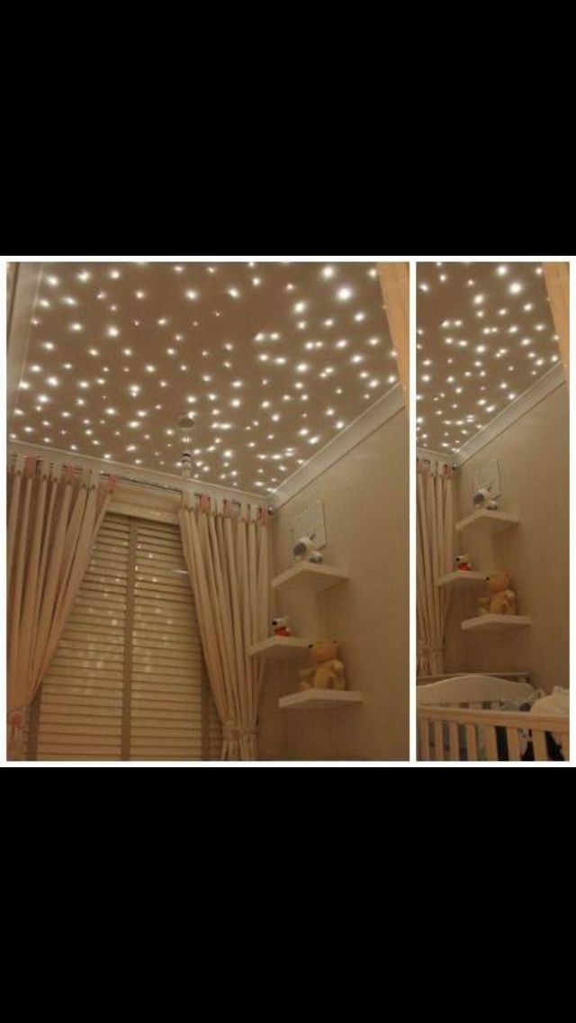 This starry ceiling would be peeeerfect for Owens Star Wars room