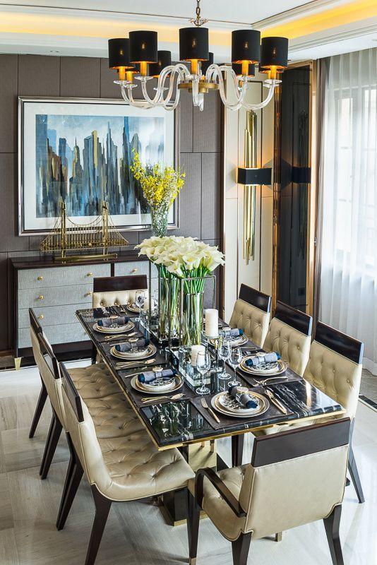 The Most Creative Dining Rooms By David Carter Design สถาป ตยกรรมภายใน ตกแต งภายใน ห องก นข าว